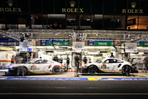 LeMans 2019 Manthey Racing 911RSR #91 & #92 - Pitstop | © Porsche