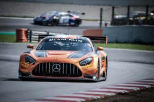 Mercedes AMGGT3 2020 EVO testing in Friday Practice @Barcelona | © SRO